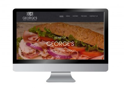 George's Light Lunch Website
